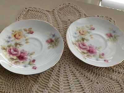 Vintage Collectable Duchess Replacement Saucer  High Tea  England Pink Roses EUC
