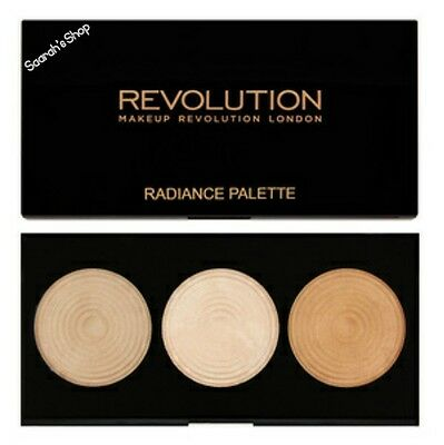 Makeup Revolution Radiance Lights Highlighter Palette 3 Baked Highlighters Fast