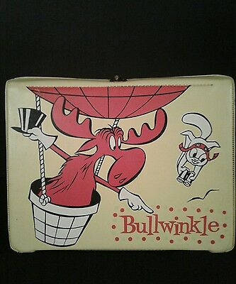 1962 Bullwinkle and Rocky vinyl lunchbox! No Reserve! RARE!