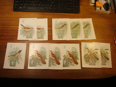 Singer Sewing Machine American Song Bird Cards, Mix Lot Of 11