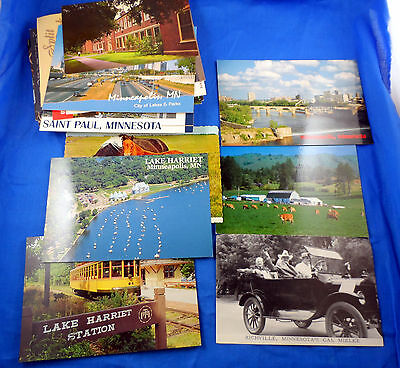 Minnesota Vintage Postcard Lot Of 43 More Recent Misc. - Free Us Shipping