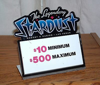 Stardust Casino Table Stakes Sign Black Jack 10.00 to 500.00