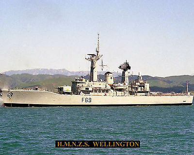 Royal New Zealand Navy Frigate Hmnzs Wellington F69 Pic With Bonus Stat Sheet
