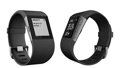 FitBit SURGE - Fitness GPS Watch/Activity Tracker - LARGE BLACK