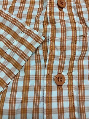 Mens The North Face Plaid Short-Sleeve Outdoor Hiking Shirt Large