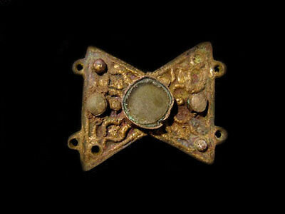 BEAUTIFUL LATE BYZANTINE GILT Bronze MOUNT DECORATION+++RARE+++