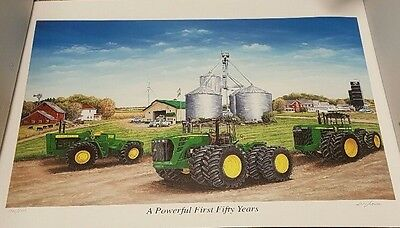 """John Deere Limited Edition and Numbered Print """"A Powerful First Fifty Years"""""""