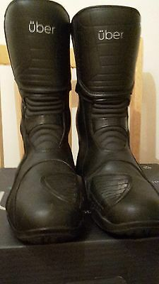Uber Mens Motorcycle Boots Size Uk 9
