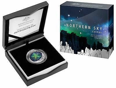 Australia 2016 $5 Northern Sky - Cygnus Coloured Silver Proof Coin -In Stock Now