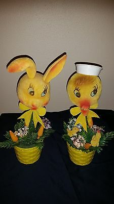 Vintage Rabbit and Duck Table Decorations-Humorus