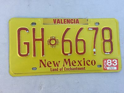 """1983 New Mexico Truck License Plate  """" Gh 6678 """" Nm 83 Land Of Enchantment"""