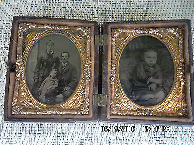 Copper Tintype Daguerreotype Celluloid Thermoplastic Ambrotype 1800s Family