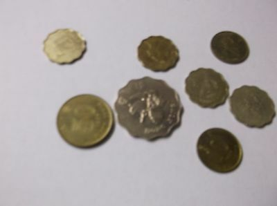 Lot of 8 Different Hong Kong Coins -FORIGN MONEY
