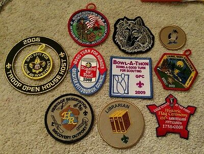 11 Boy Scouts Patches Mixed Lot Heritage Reservation Greater Pittsburgh Council+