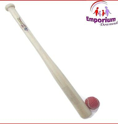 Kids Baseball Bat Set Tennis Ball 71cm Base Ball Bat Wooden Sport Beach Toy NEW