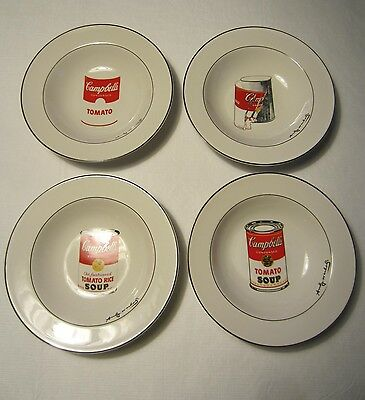 Andy Warhol Campbell's Soup bowls plates dishes
