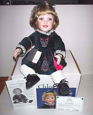 The Danbury Mint Irish Chloe Porcelain Collector Doll by Jeanne Singer