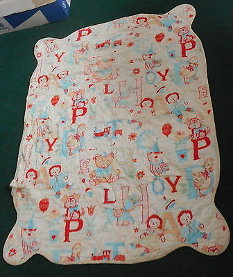 Colorful Vintage Raggedy Ann & Andy Baby Comforter