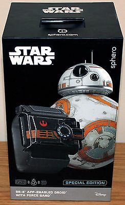 ****New Sphero Star Wars BB-8 Special Edition App-Enabled Droid w/Force Band****