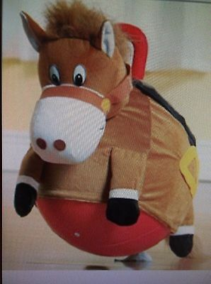 Bouncy Horse, Soft plush Ride on INFLATABLE Stuffed Hopper Horse.