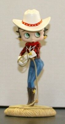 "Betty Boop ""Cowgirl"" Collector Figurine Danbury Mint"
