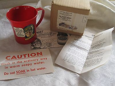 Vintage Captain Midnight Ovaltine Mug With Papers And Original Mailer