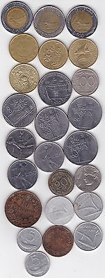 25 Different Coins From Italy - 1862 to 1996