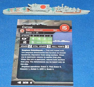 Axis and Allies War at Sea Set V Chitose 31/39 #31 Uncommon x1