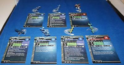 Axis and Allies War at Sea Lot Of Planes SB2C Helldiver-PBY Black Cat & More