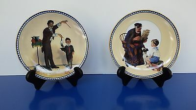Bradford Exchange collectible plates, Norman Rockwell, 2 Innocence + Experience