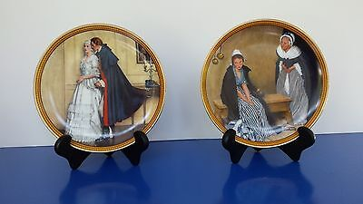 "Norman Rockwell plates,complete set of Rockwell Colonials ""The Rarest Rockwells"""