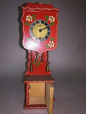 Vintage Small Grandfather Clock By Linden Black Forest West Germany