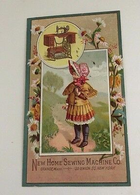 1880 era New Home Sewing Machine Advertising Trade Card 30 Unions Square NY