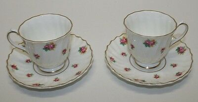 Royal Doulton Set of Two Demitasse Cups and Saucers