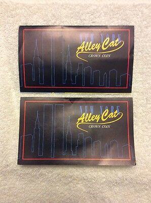 New York Alley Cat Crown Coin 1990 Isle of Man Fleetwood Sealed Mint Lot Of 2