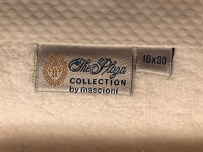 THE PLAZA HOTEL New York City White Plaza Crest PP Hand Towels NEW 16x30