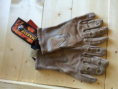 Outdoor Research Overlord Short Tactical Gloves Nomex Leather Lrg USMC USA MADE