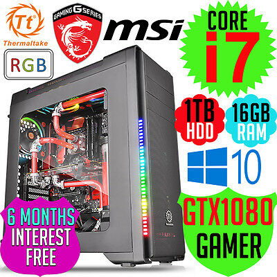 Thermaltake MSI Versa C21 Intel Core i7-7700 16GB GTX1080 Desktop Computer PC