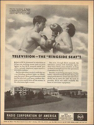 1944 Vintage ad for Radio Corporation of America`Boxing Gloves Art (031716)