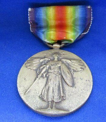 WWI USMC Victory Medal and Ribbon With 1936 Headquarters Letter VERY RARE