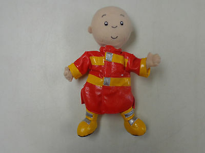 Caillou  11 Inch Plush Doll In Fireman Coat  W Boots