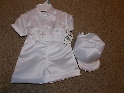 NWT Infant boys Christening Outfit 6-9 Months White from Sears