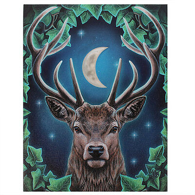 Lisa Parker  New Gothic Wicca Emperor Stag  19cm x 25cm Canvas Print
