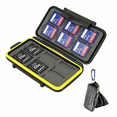 Beeway® Memory Card Carrying Case Holder for SD SDHC SDXC - 12 Slots Sealed with