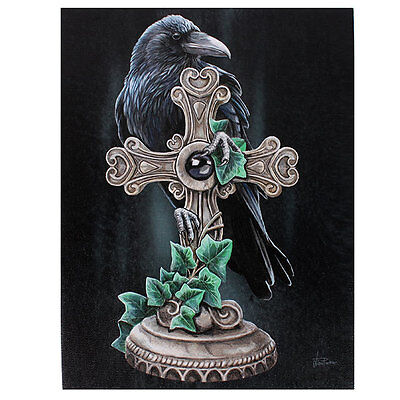 Lisa Parker  New Gothic Wicca Black Raven The Fallen 19cm x 25cm Canvas Print