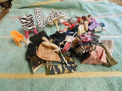 mini Bratz dolls chairs/umbrella/shoes/clothes/etc. over 100 pieces