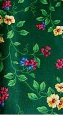 Longaberger Placemats Emerald Vine 4 Pre Owned Polished Cotton Green Blue Pink