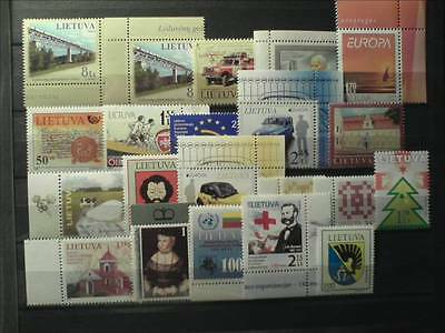 21 Lithuania stamps. Not used.