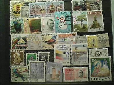 80 Lithuania stamps. Used.