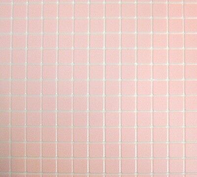 "Pink Tile Floor Sheet FF60630 Plastic Handley House 1/"" scale doll 1p"